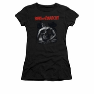 Sons Of Anarchy Shirt Juniors Skull Back Black Tee T-Shirt