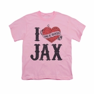 Sons Of Anarchy Shirt Kids I Heart Jax Pink Youth Tee T-Shirt