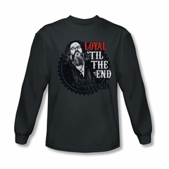 Sons Of Anarchy Shirt Loyal Long Sleeve Charcoal Tee T-Shirt