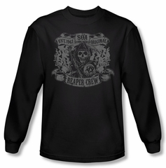 Sons Of Anarchy Shirt Original Reaper Crew Long Sleeve Black T-Shirt