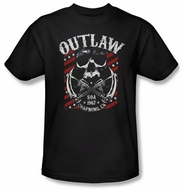 Sons Of Anarchy Shirt Outlaw Adult Black Tee T-Shirt