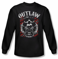 Sons Of Anarchy Shirt Outlaw Long Sleeve Black Tee T-Shirt
