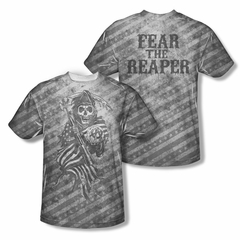 Sons Of Anarchy Shirt Reaper Sublimation Shirt Front/Back Print
