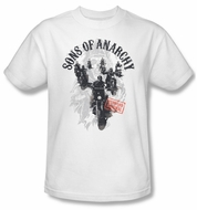 Sons Of Anarchy Shirt Reapers Ride Adult White Tee T-Shirt
