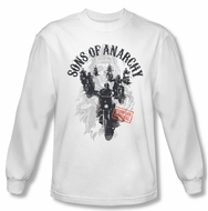 Sons Of Anarchy Shirt Reapers Ride Long Sleeve White Tee T-Shirt