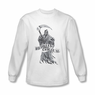 Sons Of Anarchy Shirt Redwood Original Long Sleeve White Tee T-Shirt