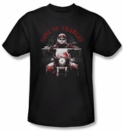 Sons Of Anarchy Shirt Ride On Adult Black Tee T-Shirt