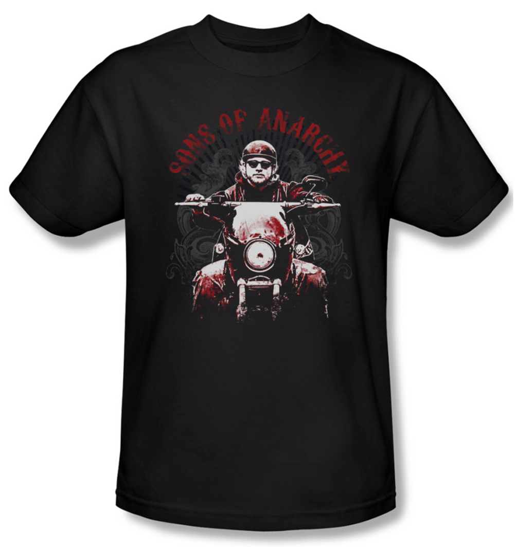 sons of anarchy shirt ride on adult black tee t shirt sons of anarchy soa ride on shirts. Black Bedroom Furniture Sets. Home Design Ideas