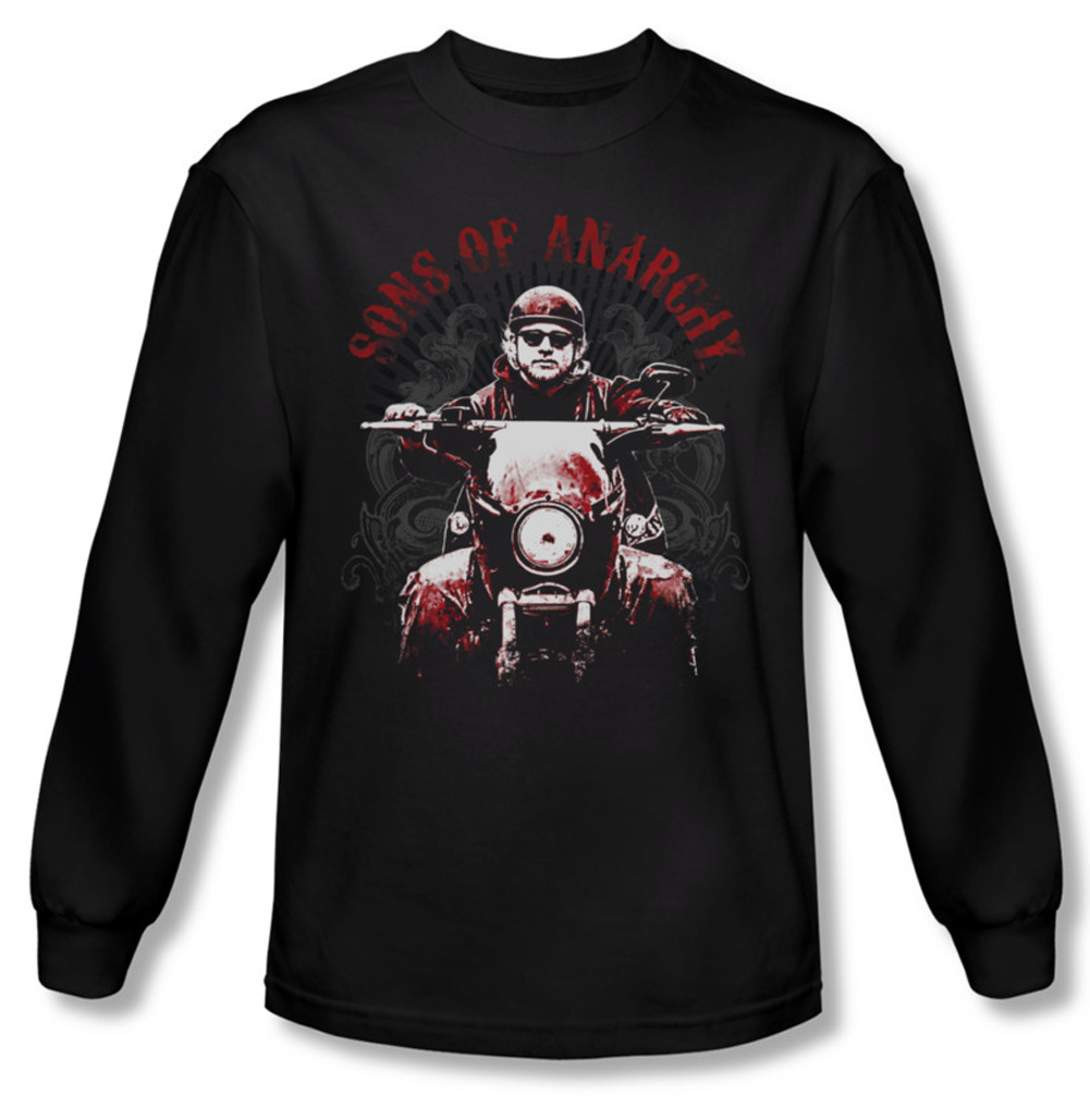 sons of anarchy shirt ride on long sleeve black tee t. Black Bedroom Furniture Sets. Home Design Ideas
