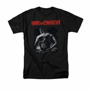 Sons Of Anarchy Shirt Skull Back Adult Black Tee T-Shirt