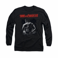 Sons Of Anarchy Shirt Skull Back Long Sleeve Black Tee T-Shirt
