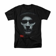 Sons Of Anarchy Shirt Skull Face Adult Black Tee T-Shirt
