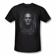 Sons Of Anarchy Shirt Slim Fit Smokey Face Black T-Shirt