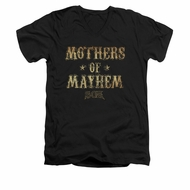 Sons Of Anarchy Shirt Slim Fit V-Neck Mothers Of Mayhem Black T-Shirt