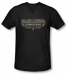 Sons Of Anarchy Shirt Slim Fit V Neck Teller Morrow Black Tee T-Shirt