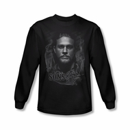 Sons Of Anarchy Shirt Smokey Face Long Sleeve Black Tee T-Shirt