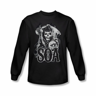 Sons Of Anarchy Shirt Smokey Reaper Long Sleeve Black Tee T-Shirt
