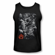 Sons Of Anarchy Shirt Tank Top Group Fight Black Tanktop