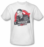 Sons Of Anarchy Shirt Vice President Adult White Tee T-Shirt