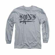 Sons Of Anarchy Shirt Worn Son Long Sleeve Athletic Heather Tee T-Shirt