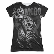 Sons Of Anarchy Somcro Reaper Sublimation Juniors Shirt