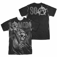 Sons Of Anarchy Somcro Reaper Sublimation Shirt Front/Back Print