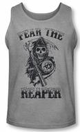 Sons Of Anarchy Tank Top Fear The Reaper Grey Tanktop