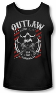 Sons Of Anarchy Tank Top Outlaw Black Tanktop
