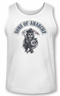 Sons Of Anarchy Tank Top Shirt Bloody Sickle White Tanktop