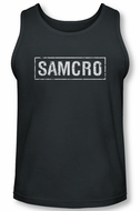 Sons Of Anarchy Tank Top Shirt Samcro Charcoal Tanktop