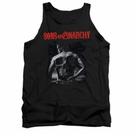 Sons Of Anarchy Tank Top Skull Back Black Tanktop