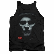 Sons Of Anarchy Tank Top Skull Face Black Tanktop