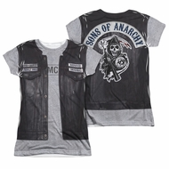 Sons Of Anarchy Unholy Costume Sublimation Juniors Shirt Front/Back Print