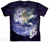 Space View Shirt Tie Dye Adult T-Shirt Tee
