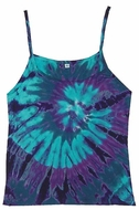 Spiral Blue Ladies Adult Tie Dye Tank Top