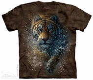 Splashing Tiger T-shirt Tie Dye Adult Tee