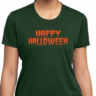 Spooky Happy Halloween Ladies Dry Wicking T-shirt