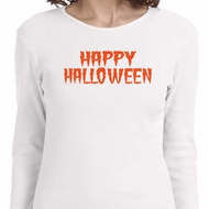 Spooky Happy Halloween Ladies Long Sleeve