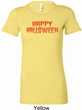Spooky Happy Halloween Ladies Longer Length Shirt