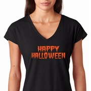 Spooky Happy Halloween Ladies Shirts