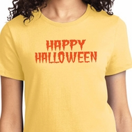 Spooky Happy Halloween Ladies T-shirt