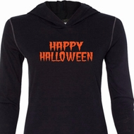 Spooky Happy Halloween Ladies Tri Blend Hoodie