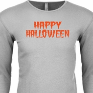 Spooky Happy Halloween Thermal Shirt