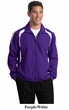 Sport Tek Colorblock Jacket Raglan Lightweight Outerwear