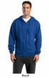 Sport Tek Hoodie Sweatshirt Full Zip Fleece Hooded Sweat Shirt