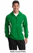 Sport Tek Jacket Colorblock Raglan Anorak Athletic Outerwear