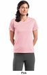 Sport Tek Ladies V-Neck Shirt Double Dri Mesh Crossover Tee Shirt