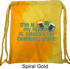 St Patrick's Day Bag My Official Drinking Shirt Tie Dye Bag