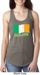 St Patrick's Day Distressed Ireland Flag Ladies Ideal Tank Top