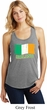 St Patrick's Day Distressed Ireland Flag Ladies Racerback Tank Top